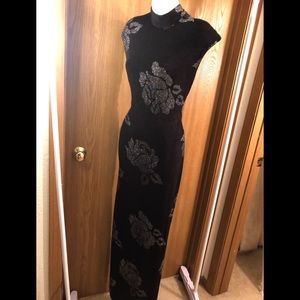 Long black gown with splits on both sides size 7/8